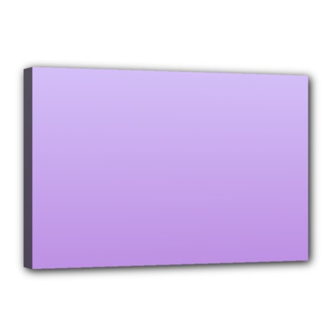 Pale Lavender To Lavender Gradient Canvas 18  x 12  (Framed)