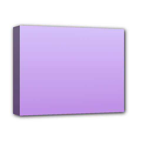 Pale Lavender To Lavender Gradient Deluxe Canvas 14  X 11  (framed)