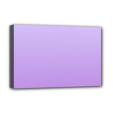Pale Lavender To Lavender Gradient Deluxe Canvas 18  x 12  (Framed)