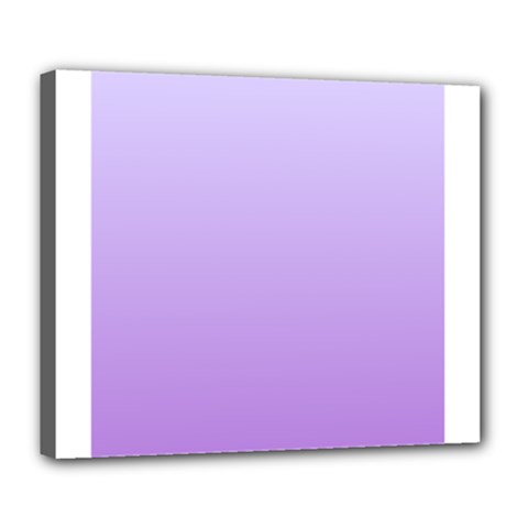 Pale Lavender To Lavender Gradient Deluxe Canvas 24  X 20  (framed)