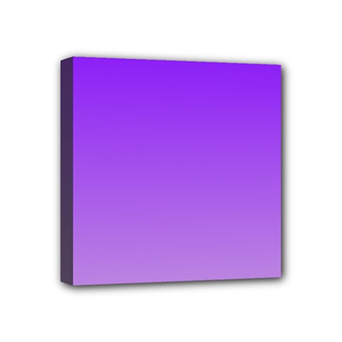 Violet To Wisteria Gradient Mini Canvas 4  x 4  (Framed)