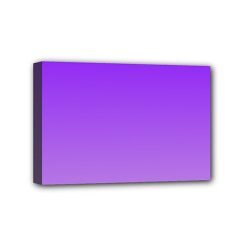 Violet To Wisteria Gradient Mini Canvas 6  x 4  (Framed)