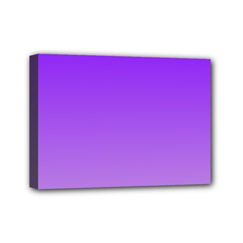 Violet To Wisteria Gradient Mini Canvas 7  x 5  (Framed)