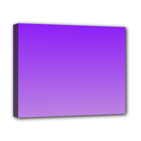 Violet To Wisteria Gradient Canvas 10  x 8  (Framed)