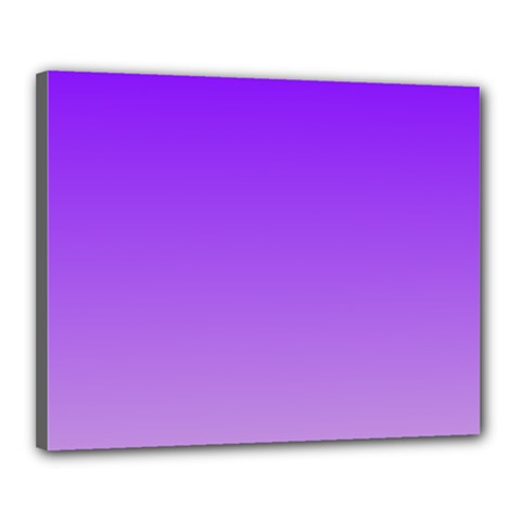 Violet To Wisteria Gradient Canvas 20  X 16  (framed)