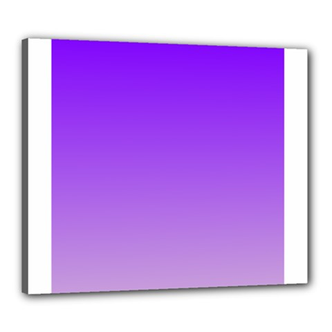 Violet To Wisteria Gradient Canvas 24  X 20  (framed)