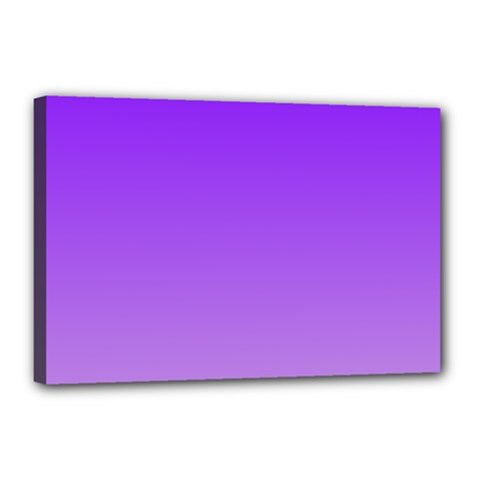Violet To Wisteria Gradient Canvas 18  X 12  (framed)