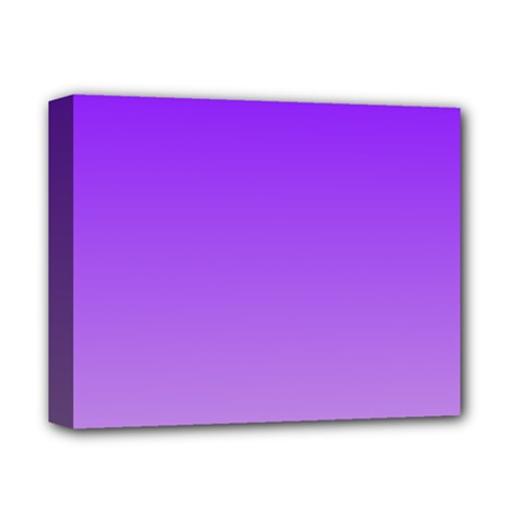 Violet To Wisteria Gradient Deluxe Canvas 14  X 11  (framed)