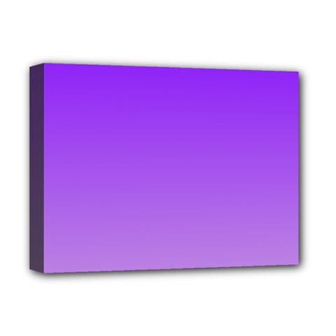 Violet To Wisteria Gradient Deluxe Canvas 16  x 12  (Framed)