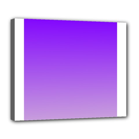 Violet To Wisteria Gradient Deluxe Canvas 24  x 20  (Framed)
