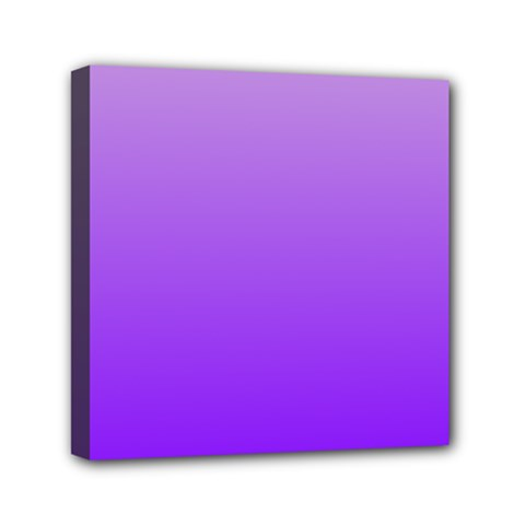 Wisteria To Violet Gradient Mini Canvas 6  X 6  (framed)