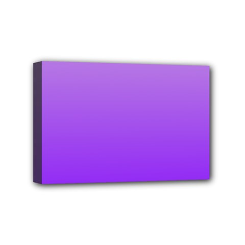 Wisteria To Violet Gradient Mini Canvas 6  X 4  (framed)