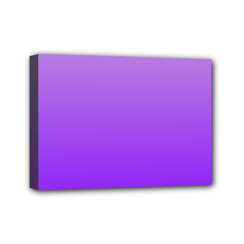 Wisteria To Violet Gradient Mini Canvas 7  X 5  (framed)