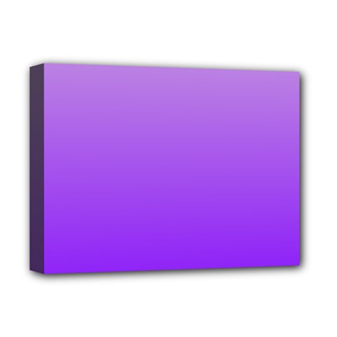 Wisteria To Violet Gradient Deluxe Canvas 16  X 12  (framed)