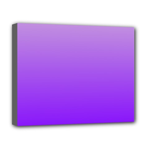 Wisteria To Violet Gradient Deluxe Canvas 20  x 16  (Framed)