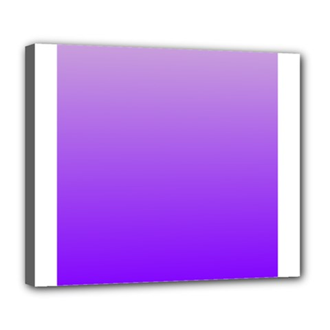 Wisteria To Violet Gradient Deluxe Canvas 24  x 20  (Framed)