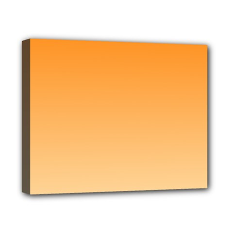 Orange To Peach Gradient Canvas 10  X 8  (framed)