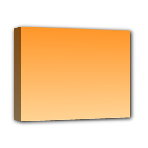 Orange To Peach Gradient Deluxe Canvas 14  x 11  (Framed)
