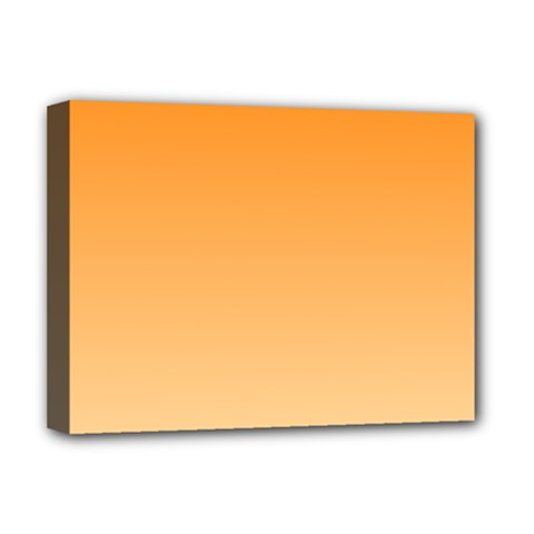 Orange To Peach Gradient Deluxe Canvas 16  X 12  (framed)