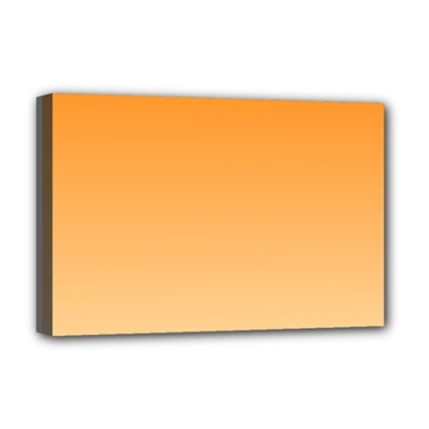 Orange To Peach Gradient Deluxe Canvas 18  X 12  (framed)