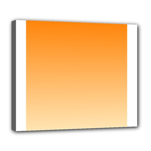 Orange To Peach Gradient Deluxe Canvas 24  X 20  (framed)