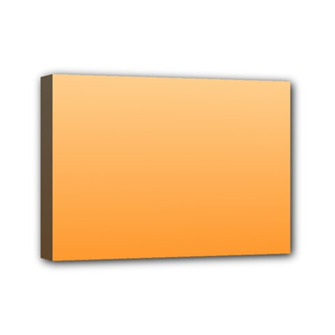 Peach To Orange Gradient Mini Canvas 7  X 5  (framed)