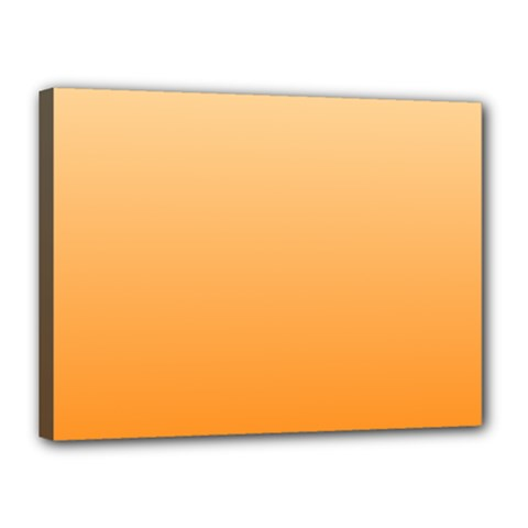 Peach To Orange Gradient Canvas 16  x 12  (Framed)
