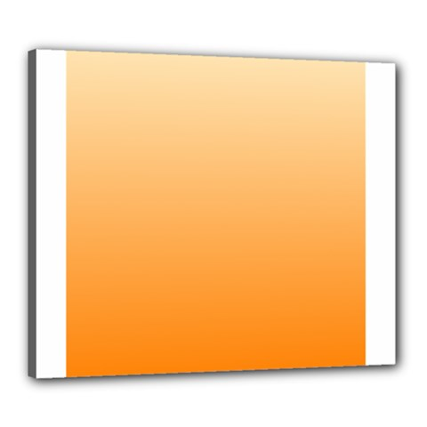 Peach To Orange Gradient Canvas 24  x 20  (Framed)