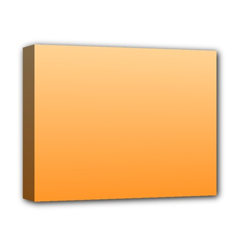 Peach To Orange Gradient Deluxe Canvas 14  x 11  (Framed)