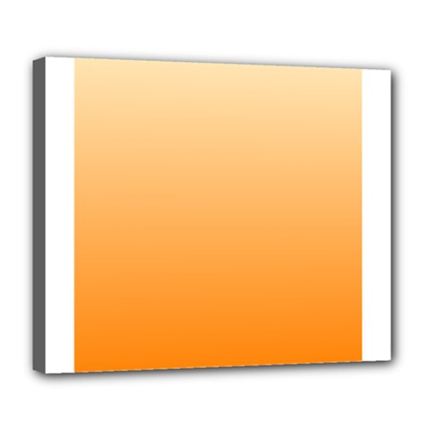 Peach To Orange Gradient Deluxe Canvas 24  x 20  (Framed)