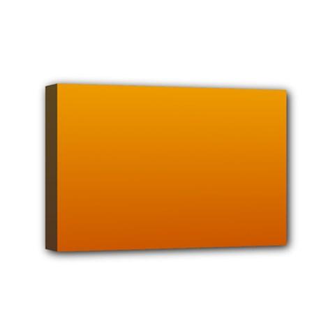 Amber To Mahogany Gradient Mini Canvas 6  X 4  (framed)