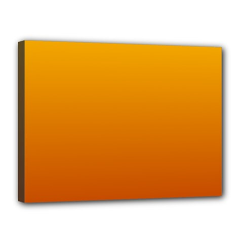 Amber To Mahogany Gradient Canvas 16  x 12  (Framed)