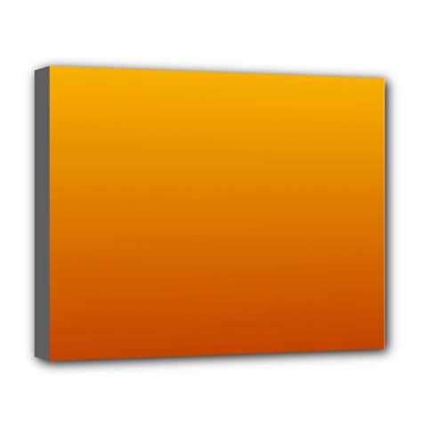 Amber To Mahogany Gradient Deluxe Canvas 20  x 16  (Framed)