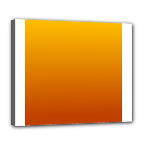 Amber To Mahogany Gradient Deluxe Canvas 24  X 20  (framed)