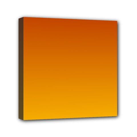 Mahogany To Amber Gradient Mini Canvas 6  X 6  (framed)