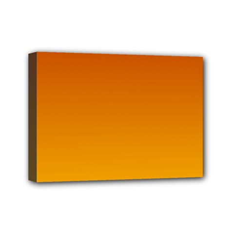 Mahogany To Amber Gradient Mini Canvas 7  x 5  (Framed)