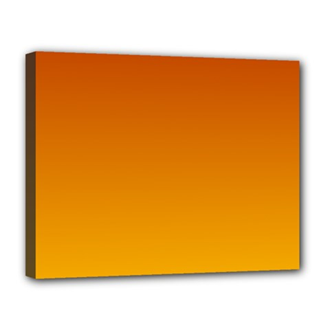 Mahogany To Amber Gradient Canvas 14  x 11  (Framed)