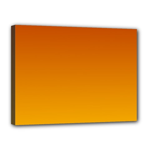Mahogany To Amber Gradient Canvas 16  x 12  (Framed)