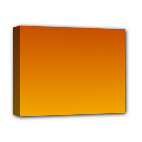 Mahogany To Amber Gradient Deluxe Canvas 14  x 11  (Framed)