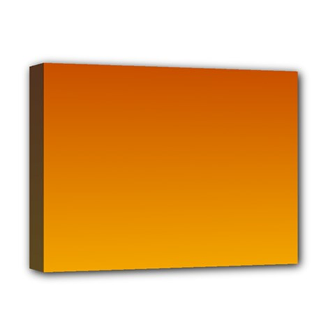 Mahogany To Amber Gradient Deluxe Canvas 16  X 12  (framed)