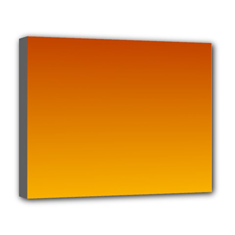 Mahogany To Amber Gradient Deluxe Canvas 20  x 16  (Framed)