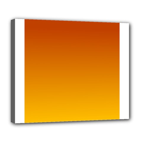 Mahogany To Amber Gradient Deluxe Canvas 24  x 20  (Framed)