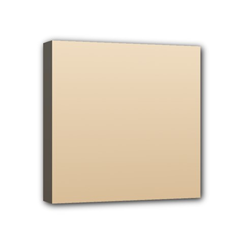 Champagne To Tan Gradient Mini Canvas 4  x 4  (Framed)