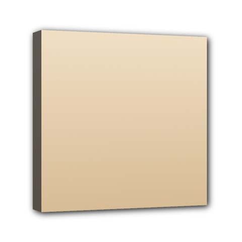 Champagne To Tan Gradient Mini Canvas 6  X 6  (framed)