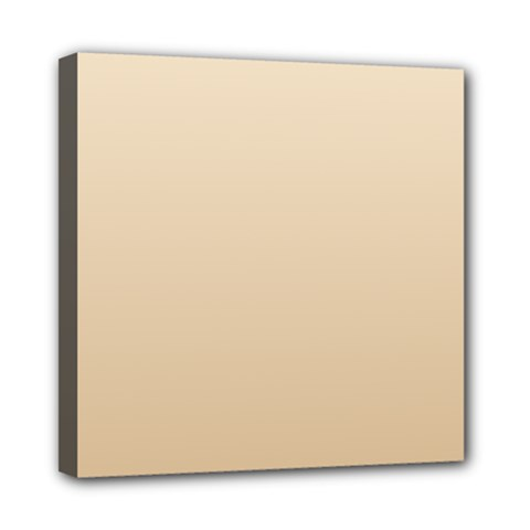 Champagne To Tan Gradient Mini Canvas 8  X 8  (framed)