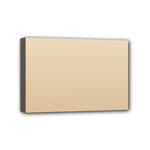 Champagne To Tan Gradient Mini Canvas 6  X 4  (framed)