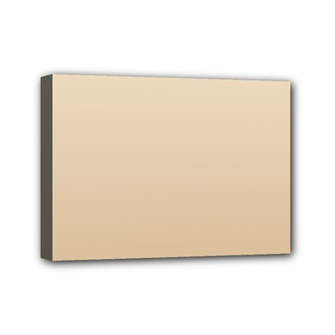 Champagne To Tan Gradient Mini Canvas 7  X 5  (framed)