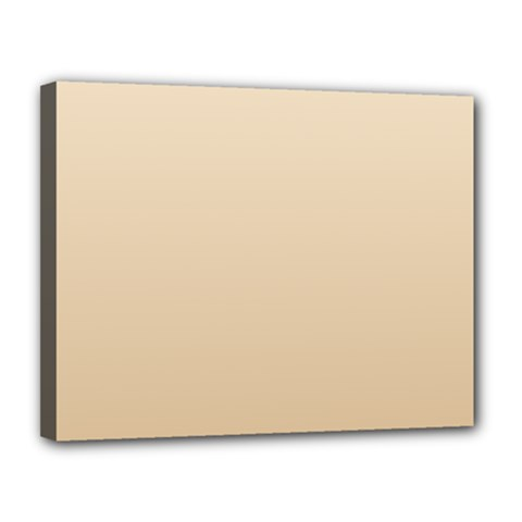 Champagne To Tan Gradient Canvas 14  x 11  (Framed)