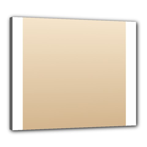 Champagne To Tan Gradient Canvas 24  x 20  (Framed)