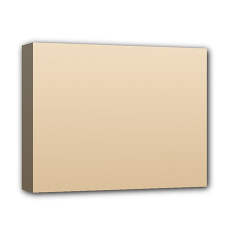 Champagne To Tan Gradient Deluxe Canvas 14  x 11  (Framed)